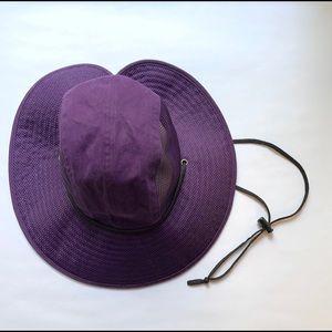 Duluth Trading purple vented sun hat w/ chin strap